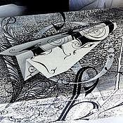 Для дома и интерьера ручной работы. Ярмарка Мастеров - ручная работа Шкатулка для письменных принадлежностей Ручная роспись. Handmade.