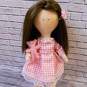 Куклы и игрушки ручной работы. Ярмарка Мастеров - ручная работа Кукла текстильная в розовом, интерьерная, игровая. Handmade.
