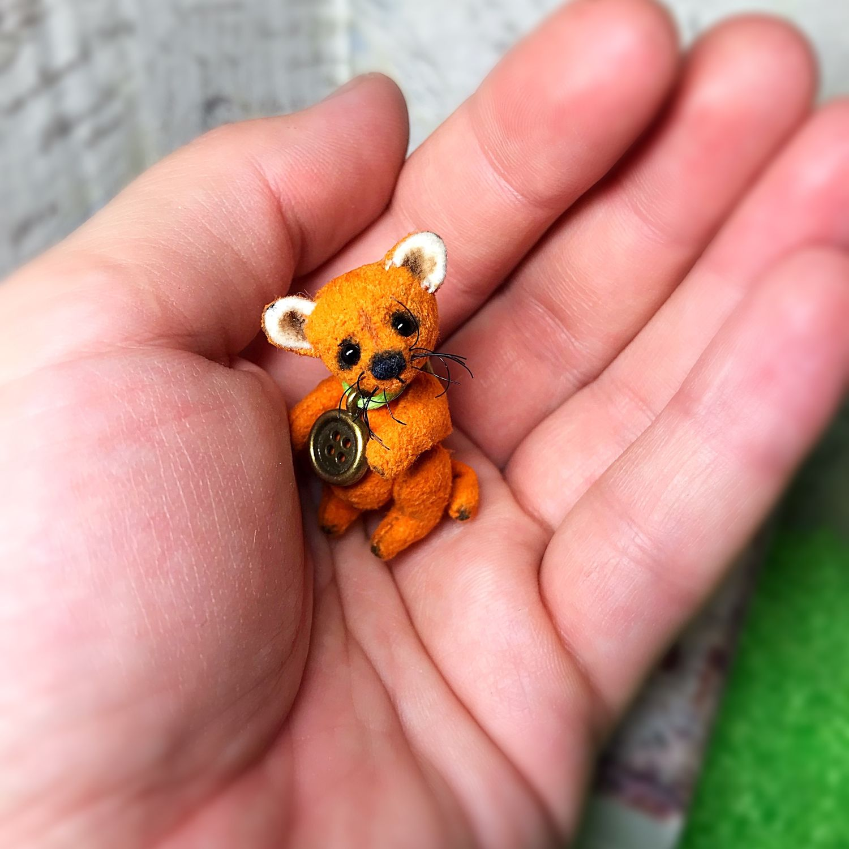 Рыжик( 3,5 см лисёнок тедди), Мини фигурки и статуэтки, Екатеринбург,  Фото №1