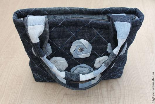 Женские сумки ручной работы. Ярмарка Мастеров - ручная работа. Купить Сумка джинсовая. Handmade. Джинсовая сумка, однотонный, джинса