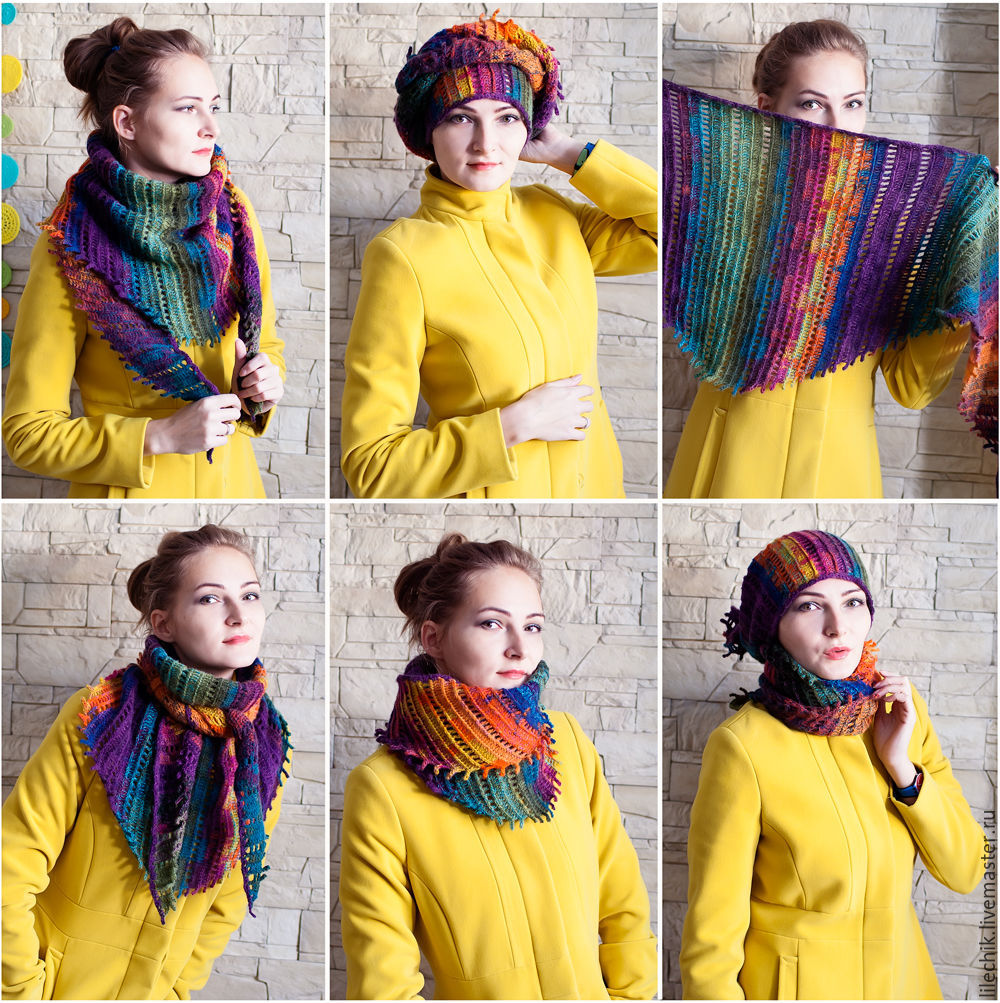 Вязанная косынка шарф