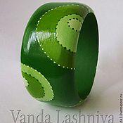 ручной работы. Ярмарка Мастеров - ручная работа Браслет в зеленых тонах. Handmade.