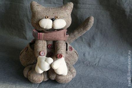 """Куклы и игрушки ручной работы. Ярмарка Мастеров - ручная работа. Купить Кошечка """"Кошечка"""". Handmade. Бежевый, кошечка"""