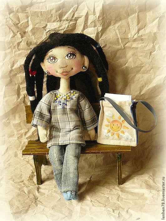 Коллекционные куклы ручной работы. Ярмарка Мастеров - ручная работа. Купить Василиса, юная художница. Handmade. Кукла ручной работы