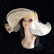 """Аксессуары ручной работы. Ярмарка Мастеров - ручная работа """"Крем """" шляпа летняя. Handmade."""