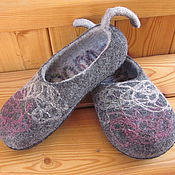 """Обувь ручной работы. Ярмарка Мастеров - ручная работа Тапочки """"Городское этно""""-2. Handmade."""