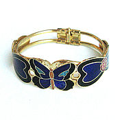 Винтаж handmade. Livemaster - original item Enamel bangle Butterfly. Handmade.