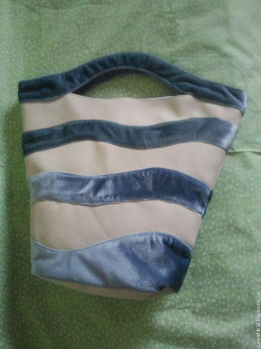 Женские сумки ручной работы. Ярмарка Мастеров - ручная работа. Купить Сумка на каждый день. Handmade. Голубой