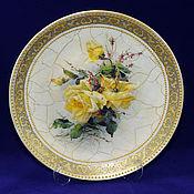 Посуда handmade. Livemaster - original item Wall plate Victorian roses. Handmade.