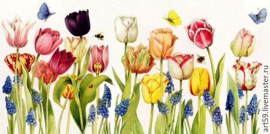 Картины цветов ручной работы. Ярмарка Мастеров - ручная работа. Купить Летняя картина. Handmade. Разноцветный, красивые цветы