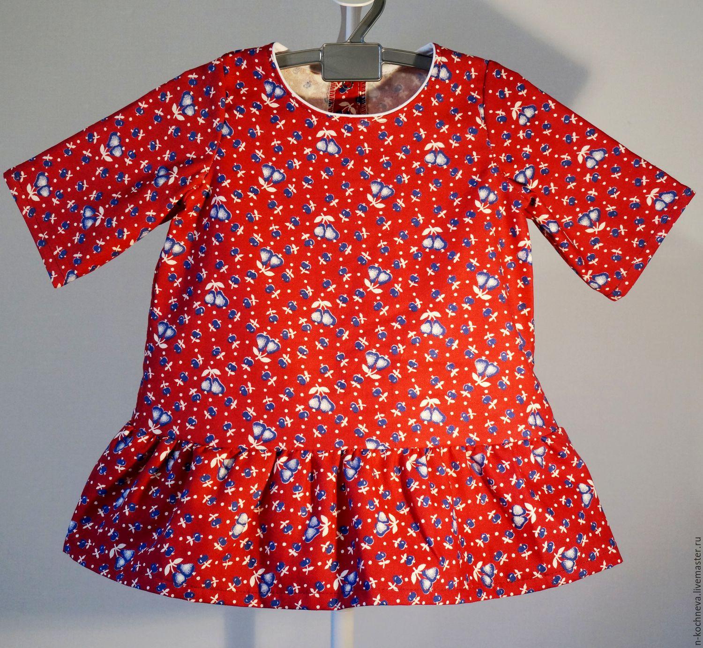 Платье байковое детское