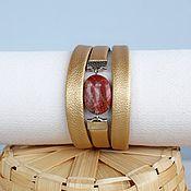 Украшения handmade. Livemaster - original item Gold bracelet with Jasper Autumn luxury. Handmade.