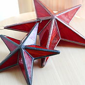 Для дома и интерьера handmade. Livemaster - original item Stained glass stars. Handmade.