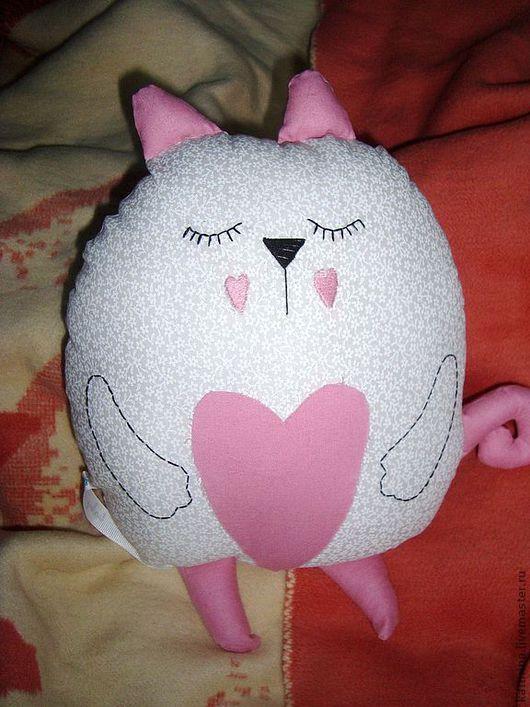 Игрушки животные, ручной работы. Ярмарка Мастеров - ручная работа. Купить Сонный кот. Handmade. Белый, котик, сплюшка