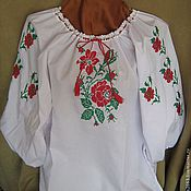 Русский стиль ручной работы. Ярмарка Мастеров - ручная работа Вышитая блузка. Handmade.