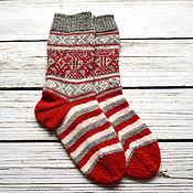 Аксессуары ручной работы. Ярмарка Мастеров - ручная работа Вязаные носки Норвегия. Handmade.