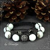 Украшения handmade. Livemaster - original item Shamballa bracelet Shamballa White jade. Handmade.