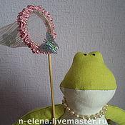 Куклы и игрушки ручной работы. Ярмарка Мастеров - ручная работа Игрушка лягушка Агнесса.. Handmade.