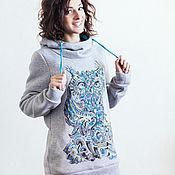 Sweater Jackets handmade. Livemaster - original item Sweatshirt SOVA. Handmade.