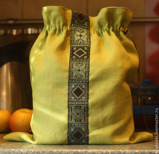 Кухня ручной работы. Ярмарка Мастеров - ручная работа. Купить Мешок для хлеба. Handmade. Мешок для хлеба, полиэтилен