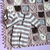 Аксессуары для фотосессии ручной работы. Ярмарка Мастеров - ручная работа Комплект для фотосессии новорожденного- слип и колпак, колпачок. Handmade.