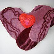 Аксессуары ручной работы. Ярмарка Мастеров - ручная работа Валяные варежки для влюблённых. Handmade.