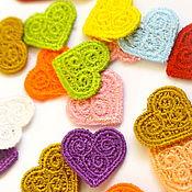 Материалы для творчества handmade. Livemaster - original item embroidery applique Heart pattern openwork lace. Handmade.