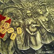 handmade. Livemaster - original item Tablecloth Three Norns (Goddesses of Destiny), divination and rituals. Handmade.