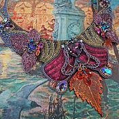 Украшения ручной работы. Ярмарка Мастеров - ручная работа Орхидея колье. Handmade.