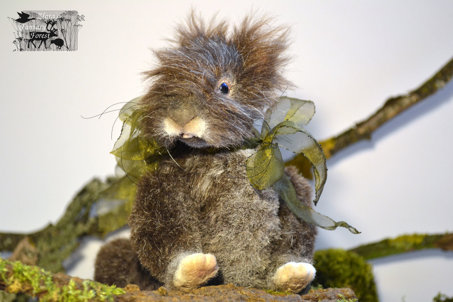Toy animals, handmade. Fair Masters - realistic rabbit. To buy Rabbit in the style of Teddy nature. 100% Handmade.
