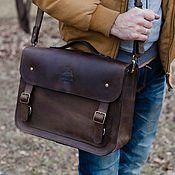 Сумки и аксессуары handmade. Livemaster - original item Briefcase leather male David. Handmade.