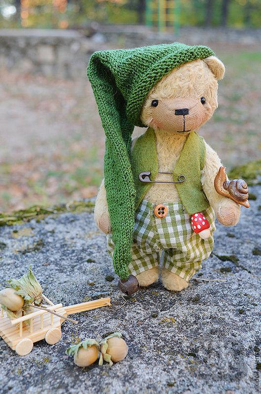 Мишки Тедди ручной работы. Ярмарка Мастеров - ручная работа. Купить Мишка тедди Потап. Handmade. Бежевый, мухомор, handmade