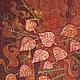 Фантазийные сюжеты ручной работы. Картина Осенние Кракелюры выполненная на хб ткани в технике батика. Мария. Ярмарка Мастеров. Картина