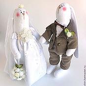 Куклы и игрушки ручной работы. Ярмарка Мастеров - ручная работа Свадебные зайчики. Handmade.