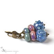 Украшения handmade. Livemaster - original item Earrings For colors lampwork. Handmade.