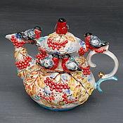 """Чайники ручной работы. Ярмарка Мастеров - ручная работа Чайник заварочный """"Снегири"""". Handmade."""