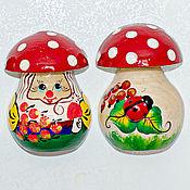 Сувениры и подарки handmade. Livemaster - original item Magnet mushroom in stock. Handmade.