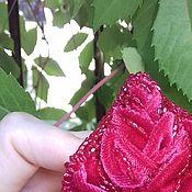 Украшения handmade. Livemaster - original item Red velvet rose brooch. Handmade.