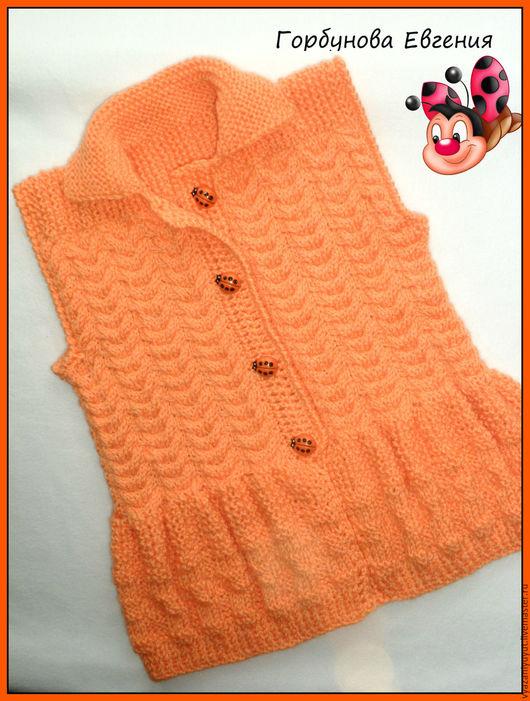 """Одежда для девочек, ручной работы. Ярмарка Мастеров - ручная работа. Купить Жилетка """"Летний день"""". Handmade. Вязание для детей, для девочки"""