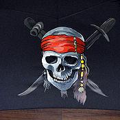 Аксессуары ручной работы. Ярмарка Мастеров - ручная работа Зонт Пиратский. Handmade.