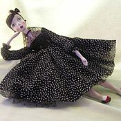 Куклы и игрушки ручной работы. Ярмарка Мастеров - ручная работа Актриска...Подвижная куколка из папье маше. Handmade.