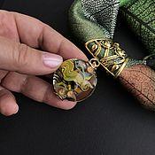 """Украшения handmade. Livemaster - original item Колье """"Ундина"""" из шелка с подвеской лэмпворк.. Handmade."""