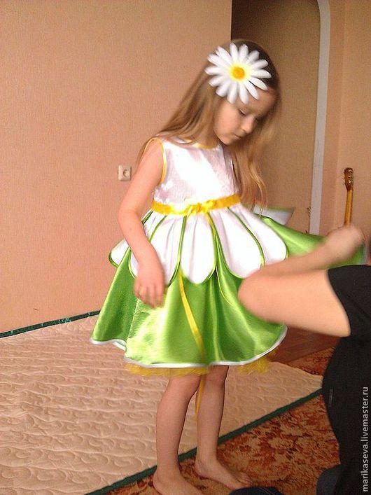 """Одежда для девочек, ручной работы. Ярмарка Мастеров - ручная работа. Купить Платье для девочки """" Я ромашка"""". Handmade. ромашки"""