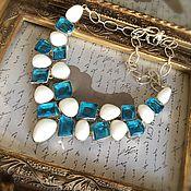 Украшения handmade. Livemaster - original item Necklace white Agate and Quartz. Handmade.