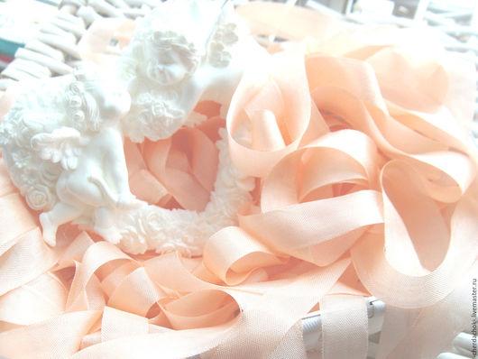 Открытки и скрапбукинг ручной работы. Ярмарка Мастеров - ручная работа. Купить Шебби-лента Греческий розовый. Handmade. Лента шебби
