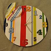 """Для дома и интерьера ручной работы. Ярмарка Мастеров - ручная работа Часы""""Птица счастья идёт на взлёт!"""". Handmade."""