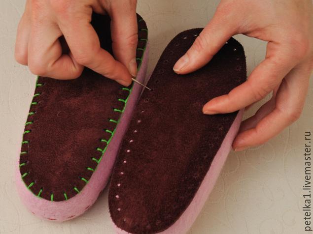 Как сделать подошву к валяной обуви