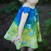 Работы для детей, ручной работы. Ярмарка Мастеров - ручная работа Платье-сарафан  для девочки. Handmade.