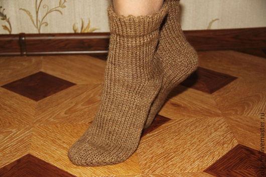 Уютные и теплые носочки из 100% верблюжьей шерсти.
