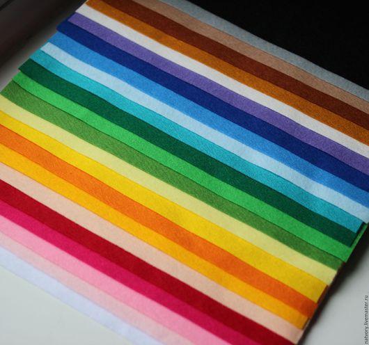 Валяние ручной работы. Ярмарка Мастеров - ручная работа. Купить Мягкий корейский фетр набор 24 цвета. Handmade. Разноцветный